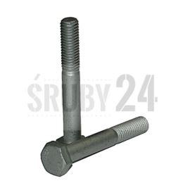 Śruba z łbem sześciokątnym DIN 931 kl. 8.8 ocynk płatkowy M4-M27