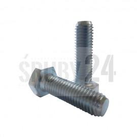 Śruba z łbem sześciokątnym DIN 933 kl. 8.8 ocynk galwaniczny M22-M52