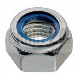 Nakrętka sześciokątna samozabezpieczająca z wkładką, drobnozwojna DIN 985 kl.8 ocynk galwaniczny