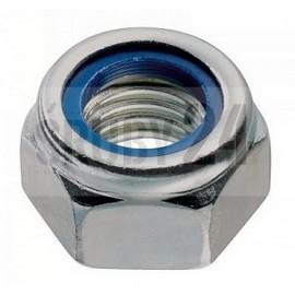 Nakrętka sześciokątna samozabezpieczająca z wkładką, drobnozwojna DIN 985 kl.10 ocynk galwaniczny