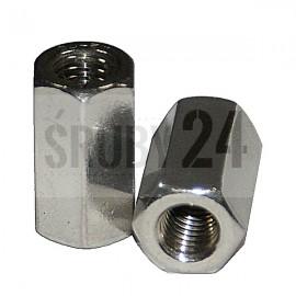 Nakrętka sześciokątna złączna 3d DIN 6334 ocynk galwaniczny