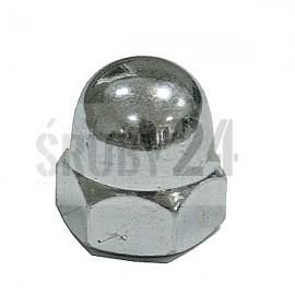 Nakrętka kołpakowa wysoka jednoczęściowa drobnozwojna DIN 1587 kl.6 ocynk galwaniczny