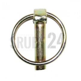 Przetyczka z pierścieniem ocynk galwaniczny żółty