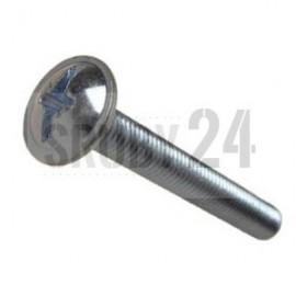 Wkręt do metalu z łbem podkładkowym z wgłęb.krzyż.Combi DIN 967 ocynk galwaniczny