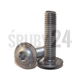 Śruba z łbem podkładkowym ISO 7380-2 PG kl.010.9 ocynk galwaniczny