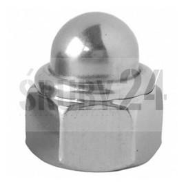 Nakrętka kołpakowa samozabezpieczająca z wkładką niemetalową DIN 986 kl.8 ocynk galwaniczny