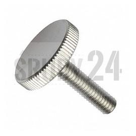 Śruba z łbem radełkowym, niska DIN 653 kl.5.8 ocynk galwaniczny