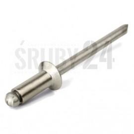 Nit jednostronny z rdzeniem (zrywalny), standardowy z łbem stożkowym ze stali nierdzewnej ISO 15984 A2/A2