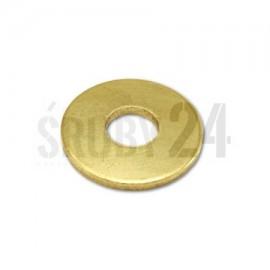 Podkładka okrągła płaska powiększona DIN 9021 mosiądz