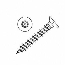 Wkręt do drewna z łbem stożkowym z gniazdem sześciokarbowym Tx(Torx) ocynk galwaniczny PG