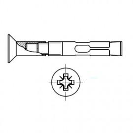 Kotwa tulejowa z łbem stożkowym Ocynk Galwaniczny Biały
