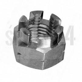 Nakrętka koronowa drobnozwojna DIN 935 Ocynk Galwaniczny M8-M24