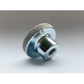 Nakrętka okrągła radełkowana wysoka DIN 466 kl.5 Ocynk Galwaniczny