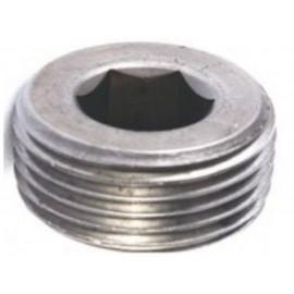 Korek gwintowany z gniazdem sześciokątnym DIN 906 Ocynk Płatkowy