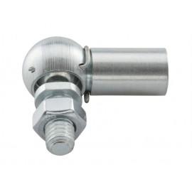 Przegub kulowy kątowy z zawleczką sprężystą z gwintem lewozwojnym DIN 71802 CS Ocynk Galwaniczny