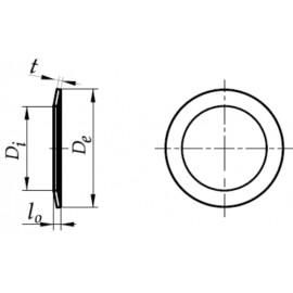 Sprężyna talerzowa do napinania łożysk Stal Sprężynowa fosfatowana 89,5-114