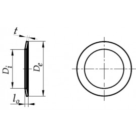 Sprężyna talerzowa do napinania łożysk stal spr. fosfat 159-198