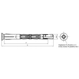 Łączniki rozporowe do ościeżnic P d 10mm Ocynk Galwaniczny