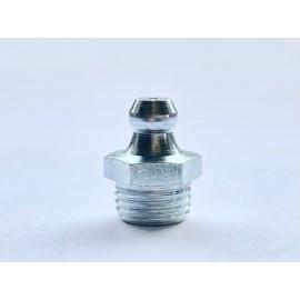 Smarowniczki z główką stożkową, proste 180° DIN 71412 A Ocynk Galwaniczny