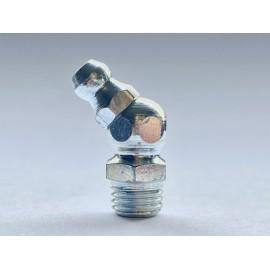 Smarowniczki z główką stożkową, kątowe 45° DIN 71412 B stal kwasoodporna A4
