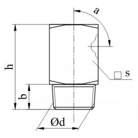 Smarowniczka wklęsła z gwintem DIN 3405 Ocynk Galwanicznym 90°