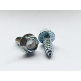 Wkręt samogwintujący z łbem sześciokątnym z podkładką ząbkowaną ISO 7053C GAL ZN