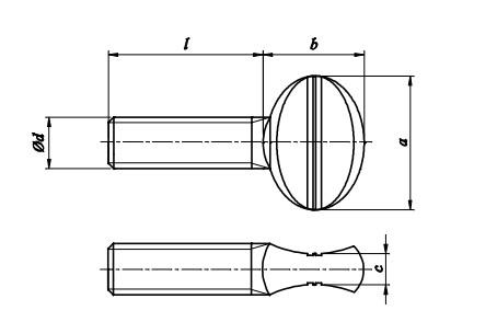 Śruba kciukowa Ocynk Galwaniczny