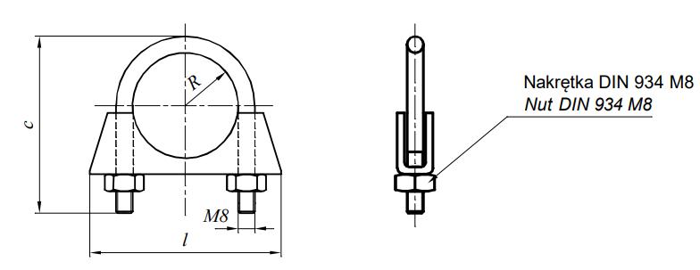 Obejma do rur Ocynk Galwaniczny 50-100