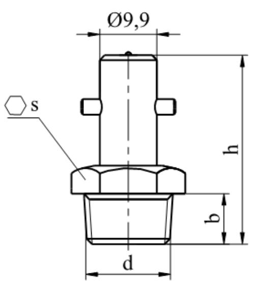 Smarowniczka kulkowa ciśnieniowa bagnetowa Mosiądz