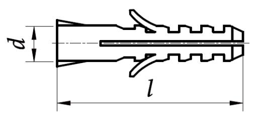 Kołek rozporowy tworzywowy do betonu Polipropylen