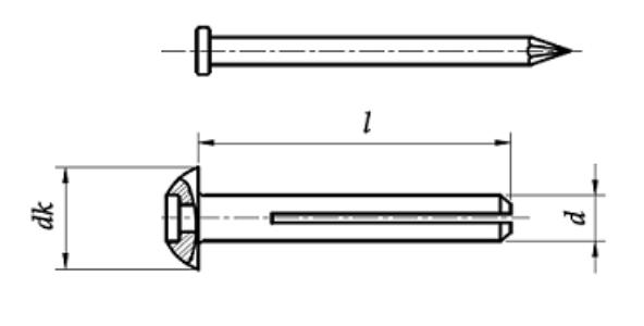 Kołki rozporowe metalowe do szybkiego montażu Ocynk Galwaniczny