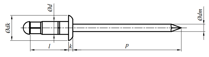 Nit Multigrip Aluminium/Stal (NM)