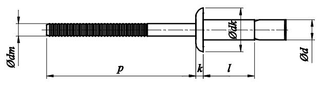 Nit konstrukcyjny Stal/Stal (NM)