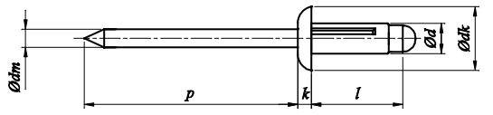 Nit Trebol Aluminium/Aluminium (NM)