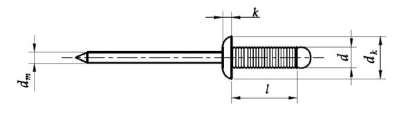 Nit rowkowy Aluminium/Stal (NM)
