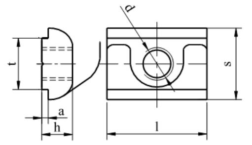 Nakrętka ze sprężyną do profili aluminiowych Ocynk Galwaniczny