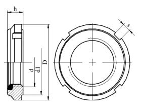 Nakrętka łożyskowa samokontrująca z wkładką poliamidową GAL45 - GAL70