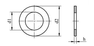 Podkładka 200HV DIN 125A Ocynk Galwaniczny M10,5-M28
