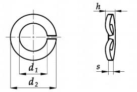 Podkładka DIN 128A Ocynk Mechaniczny M5-M30