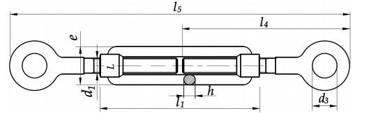 Śruba DIN 1480 oko-oko. Ocynk Galwaniczny M16-M27