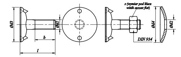 Śruba DIN 15237/DIN 934 kl.4.6 Ocynk Galwaniczny
