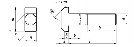 Śruba DIN 186 kl.8.8 Ocynk Galwaniczny