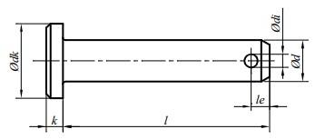 Sworzeń ISO 2341B Ocynk Galwaniczny M8-M16