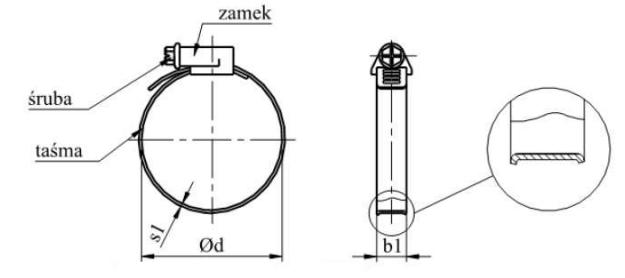 Opaska zaciskowa ślimakowa DIN 3017 AL Ocynk Galwaniczny 8-80