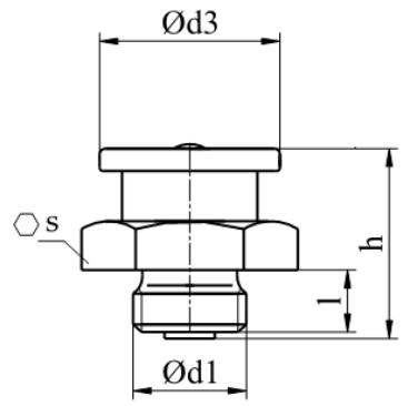Smarowniczki z główką płaską DIN 3404 Ocynk Galwaniczny