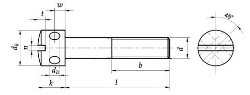 Wkręt do metalu DIN 404 kl.5.8 Ocynk Galwaniczny