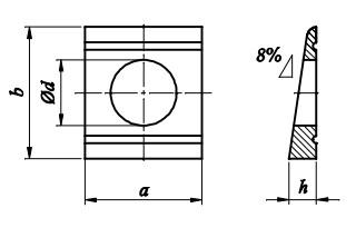 Podkładka DIN 434 Ocynk Ogniowy