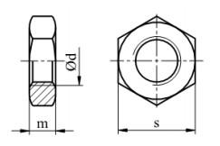 Nakrętka DIN 439 kl.04 Ocynk Ogniowy M3-M20