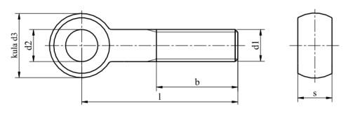 Śruba DIN 444 PG kl.8.8 Ocynk Galwaniczny M24-M36