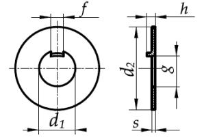 Podkładka odginana z noskiem wewnętrznym DIN 462 Ocynk Galwaniczny
